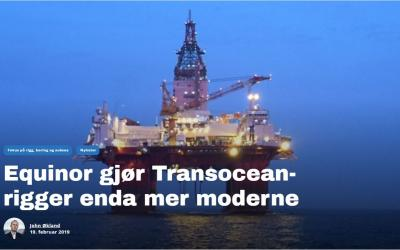 Equinor gjør Transocean-rigger enda mer moderne